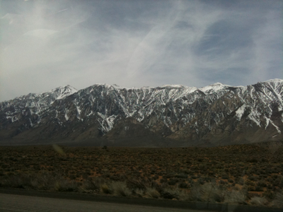 On the road back from Mammoth